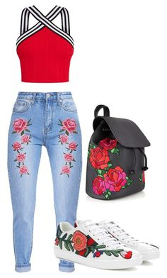 """""""roses are red..."""" by outherspace on Polyvore featuring Gucci"""
