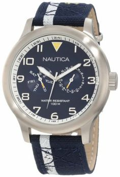 Nautica Men's N13607G BFD 103 Classic Analog Watch NAUTICA. $108.00. Stainless steel case. Durable mineral crystal protects watch from scratches. Quartz movement. Water-resistant to 100 M (330 feet). Case diameter: 45