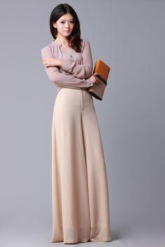 Calça Pantalona Importada- P- Designer Chic E Elegante Rosa