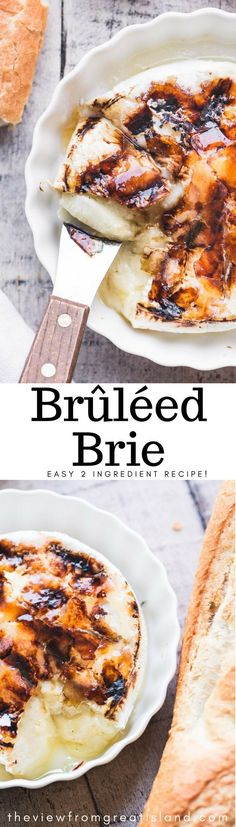 Brûléed Brie ~ this is your wow appetizer for the season guys ~ you only need a wheel of Brie and some sugar to do this, and the results speak for themselves.  Call up a few friends and tell them you're making Brûléed Brie, then see how long it takes for the doorbell to ring! #bakedbrie #bakedcheese #appetizer #holidayappetizer #easyholidayappetizer #thanksgivingappetizer #Christmasappetizer #brulee #caramel #bestbakedbrie #amazingappetizer #bakedbrierecipe