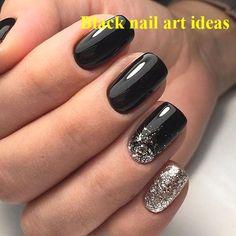 20 SIMPLE BLACK NAIL ART DESIGN IDEAS  #nailarts