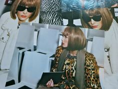Snejana Onopka as Anna Wintour. Captured by Mario Testino, styled by Carine Roitfeld. Vogue Paris August 2007.