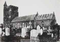 St. Andrews Old Church, Church Road, Hove, East Sussex. This image is a recent print from an old waxed paper negative, thought to date from the 1860s. The building is Grade II listed.