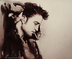 Beautiful drawings of robert pattinson - TwiFans-Twilight Saga books and Movie Fansite Robert Pattinson, Beautiful Drawings, Beautiful Artwork, Beautiful Men, Beautiful Things, Beautiful People, Robert Douglas, Star Sky, Portrait