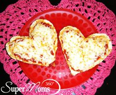 Eat Your Heart Out - Surprise your family tonight with these love-ly little pizzas on their dinner plates! Tag: Valentines Day Recipes for Kids | Valentines Day Treats | Easy Valentines Day Recipes