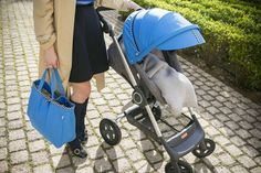 Stokke Scoot Stroller with Blue Racing Kit Style Kit accessory via YOU STRIKE MY FANCY blog