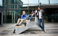 1: Julien de Smedt Stoop | A Bench That Recreates The Joy Of Having A Brownstone Stoop | Co.Design: business + innovation + design