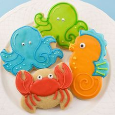 decorated sea cookies - Google Search