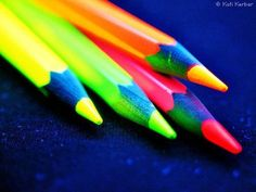 neon pencil crayons