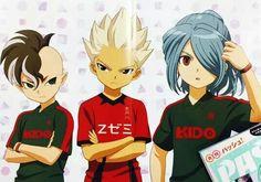 Fudou Akio, Gouenji Shuuya and Kazemaru Ichirouta and Kidou Yuuto from Inazuma Eleven Aresno Tenbin ❙ Magazine PASH!