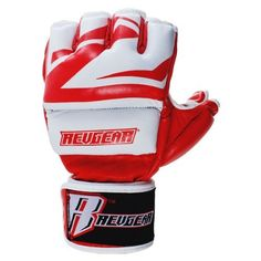 Revgear Deluxe Pro MMA Gloves (Red, 7-Ounce/Large) by Revgear. $48.13. Created so that you can train all day, everyday. This 100% Softech Leather glove offers the most protection while training, without being restrictive to MMA movements. Shape and size of glove allow you to wear hand wraps underneath. Double lightweight RAM-Force technology padding covers first and second knuckles, hand, and thumb. Double padding on top of the hand is split by stitching to dec...