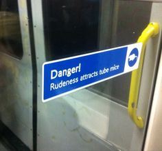 Warning on the Tube