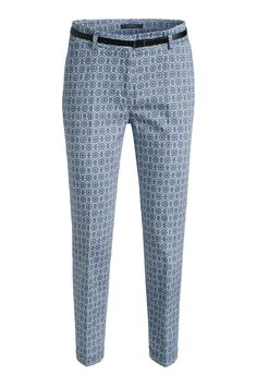 Esprit - stretchy printed cotton trousers + belt