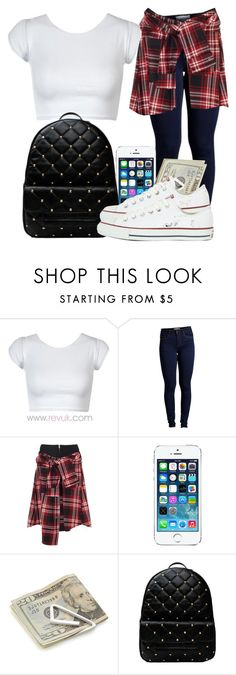 """Basic back to school outfit"" by bestdressed101 ❤ liked on Polyvore featuring Pieces, David Szeto, Crate and Barrel and Converse"
