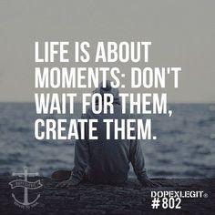 Cada dia, cada hora, cada minuto e cada segundo contam. Não desperdices as oportunidades à espera do momento certo.  O momento certo é apenas uma ilusão, uma barreira que faz atrasar-te do teu percurso, recuando-te cada vez mais, iludindo-te com desculpas que chegará a altura certa para fazeres o deve ser feito.  Se tens de agir, age agora!   Daniel Demétrio / #IdeartDesign It's not about a Brand, it's about a Lifestyle.  #Quotes #quoteoftheday #thoughtoftheday