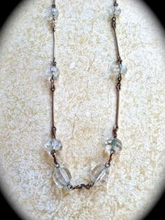 Delicate vintage crystal necklace by JNPVintageJewelry on Etsy, $35.00