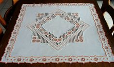 Hardanger Embroidery Beautiful Table Cloth Handmade from Germany | eBay