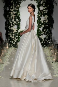 Langham, back detail | Stunning ball gown silk wedding dress by Anne Barge