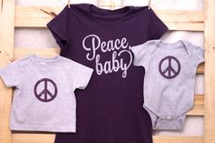 Peace Baby Mommy & Me shirt set by littletreetopsbaby on Etsy