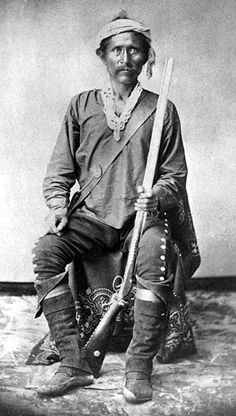 slaves and Native American Indians | NAVAJO INDIANS: BARBONCITO - CHIEF OF THE NAVAJO TRIBE IN NEW MEXICO