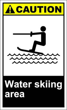 Water skiing area $1.64 #signs