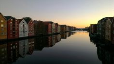 Seahouses at the river Nidelven. www.visittrondheim.no