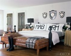 Monogram in the Home!.. but in a pretty font!! Maybe they could say Mr. and Mrs.