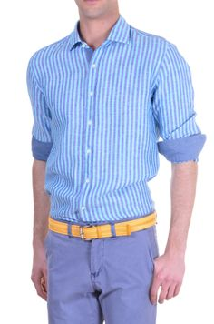 20d0d9c8a3d Men s Shirt Xacus -  stripes -  skyblue
