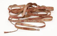 Sazigyo - Burmese tablet woven band for binding palm-leaf manuscriptsAsian Civilisations Museum
