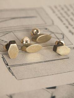 Asymmetrical Stud Earrings Erica Weiner