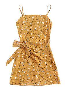 06bfd30857 $19.99 Jollymoda Women's Sleeveless Print Open Back Mini Cami Bow Dresses, Summer  Dresses, Short