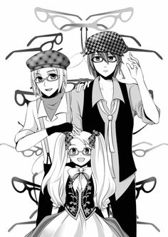 Because everyone looks cuter in glasses! Ash, Cam and Cheryl. From HM:TOTT.