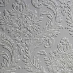Brewster Home Fashions Anaglypta Paintable High Trade x Damask Embossed Wallpaper Vinyl Wallpaper, Anaglypta Wallpaper, Peelable Wallpaper, Embossed Wallpaper, Damask Wallpaper, Wallpaper Paste, Wallpaper Panels, White Wallpaper, Self Adhesive Wallpaper