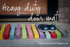 New wood door mat