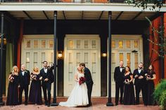 Amanda and Keaton at The Gallery at the Chicory | Two Be Wed  Photography: Two Pair Photography / Design and Coordination: Ashley Joseph of Two Be Wed / Floral: Flower Power Productions / Linens and Rentals: Luminous Events / Invitations: Paper Source / Programs: Bering's / Hair and Make Up: Flawless Bride / Entertainment: Royal Dukes Band New Orleans / Venue: The Gallery at the Chicory, New Orleans, Louisiana / Cake Bakery: The Royal Cakery