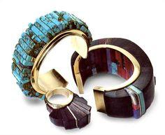 Cuffs & Ring | Charles Loloma (Hopi)