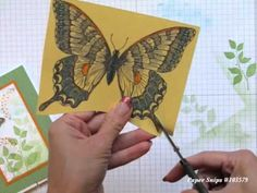 Stampin' Up!®... Finger Tips for Paper Crafting Art: Beautiful Butterfly Card How To Video - Stamp Your Art Out! www.stampyourartout.com