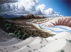 Doug West - Eye of a Dream - small matted print Abstract Landscape, Landscape Paintings, Landscapes, Creative Illustration, Illustration Art, Illustrations, New Zealand Landscape, Irish Art, Southwest Art