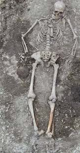 FIND BONES OF A GIANT RACE Skeletons of  Prehistoric Men, Ten Feet Tall, Dug Up in Missouri     The fossils of three human beings, evidently prehistoric giants were found near Monteseno, Mo.,