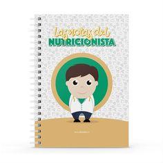 Cuaderno XL - Las notas del nutricionista, encuentra este producto en nuestra tienda online y personalízalo con un nombre. Notebook, Cover, Dietitian, Notebooks, Report Cards, Day Planners, The Notebook, Exercise Book