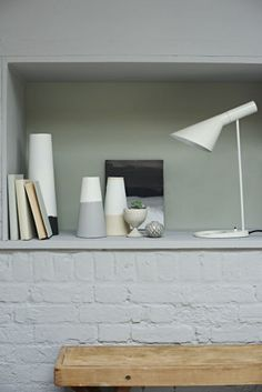 The Fens: Scandi Rustic Simple Decor | Shelfie Shelf Display | Earthborn Designer Breathable Eco Paint