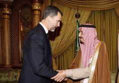 Don Felipe ofrece sus condolencias al Rey Salman por el fallecimiento del Rey Abdullah Recinto de Al-Yamamah. Riad (Arabia Saudí), 24.01.2015