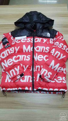 Supreme X THE NORTH FACE Nuptse Red Jacket