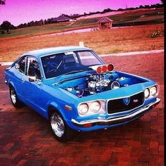 BAD THREE  #Mazda #rx3 #coupe #supercharged #brap #braplife #bridgeport #burnouts #buzzin #skids #caged #rotor #rotang #rotary #rotate #rotoriuz #rotangklan #rotarypower #10a #12a #13b #20b #26b #instarotary