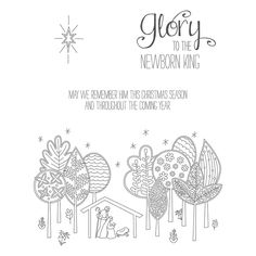 The Newborn King Clear-mount Stamp Set - by Stampin' Up!