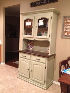 DIY Kitchen hutch makeover