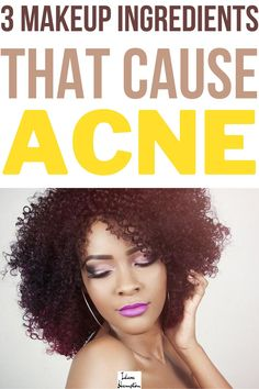 Do the ingredients in skincare products leave your head spinning? Have you ever looked at the ingredient label of your favorite foundation or blush and wondered if it was bad for your skin? Below are 3 ingredients that anyone with acne-prone skin should avoid. #acnemakeup #acneskincareproducts Makeup Tips For Dry Skin, All Natural Makeup, How To Apply Makeup, Skin Care Tips, Acne Makeup, Acne Solutions, Flaky Skin, Makeup For Beginners, Acne Prone Skin