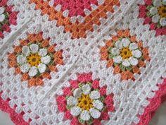 Crochet Flower Afghan Pattern | Love crochet crochet cotton baby girl 1st flower blanket afghan