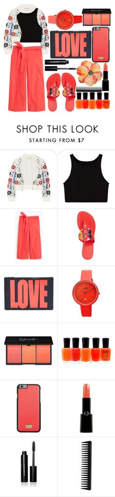 """LOVE"" by juliehalloran ❤ liked on Polyvore featuring Alice + Olivia, J.Crew, Tory Burch, Givenchy, Target, Zoya, Dolce&Gabbana, Giorgio Armani, Bobbi Brown Cosmetics and GHD"