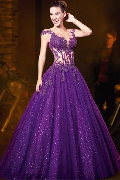 Cheap dress amazing, Buy Quality dresses leopard directly from China dress fighting Suppliers: Purple Quinceanera Dresses 2016 Crystal Beaded Sweet 16 Dresses Quinceanera Masquerade Ball Gowns vestidos de 15 anos Ball Gown Dresses, 15 Dresses, Pretty Dresses, Fashion Dresses, Formal Dresses, Wedding Dresses, Beaded Dresses, Robes Quinceanera, Fantasy Dress
